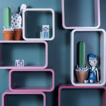 Cube Shelf by Sebra in Dusty Pink