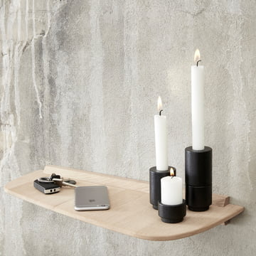 Create Me Candleholder on Wall Shelf by Andersen Furniture