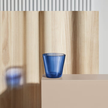Kartio tumbler by Iittala in ultramarine blue
