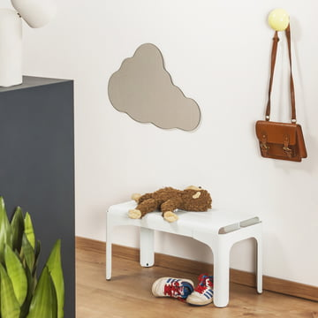 Crocodile Children Bench by Tolix in Matt White