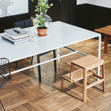 Arise Stool and Mies Dining Table by Million